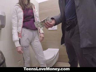 Teenslovemoney - russa miúda fucks stranger para dinheiro