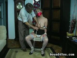 ボンデージ, 縛らアップ, bondaged