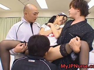 Aino Kishi Asian Nurse Spreads Her Legs