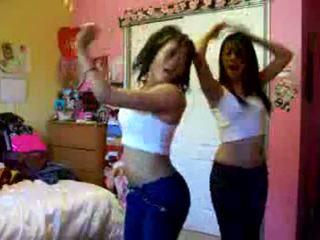 Two Sexy Chicks Dancing Naughty