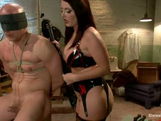 Sophie Dee Snapping Tied Up Dude's Rearend Till Strapon Shagging Him
