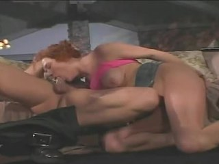 Redheaded Floozy Audrey Hollander Gags On Meaty Schlong Poking Down Throat