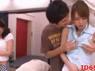 Japán av modell fej és kéz