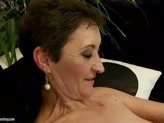 Horny granny loves young beauty