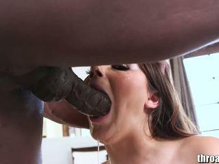 paling si rambut coklat, penuh seks oral baru, deepthroat besar