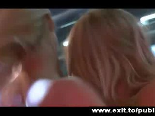 Passionate Lesbian Joy in public 2 Blondes Video