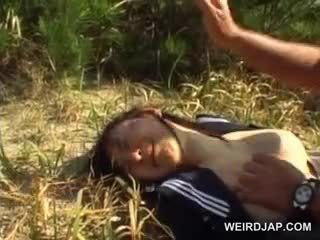 Innocent Asian School Girl Forced Into Hardcore Sex Outdoor