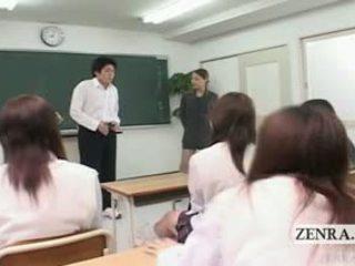 Subtitled cfnm japanisch klassenzimmer masturbation zeigen