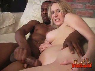blondýnky, big cock, interracial