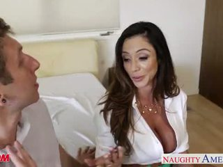 Busty mom Ariella Ferrera gets fucked and facialized