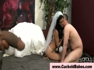 Prostituee bruid eats interraciaal