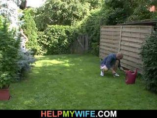 Дружина трахкав по the gardener з чоловік там