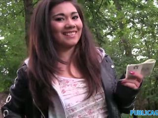 PublicAgent Asian cutie fucked by a stranger outdoors