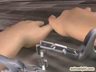 Captive hentai getto geneukt van achter door shemal