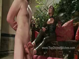 Zak is subjected to a teasing Footjob