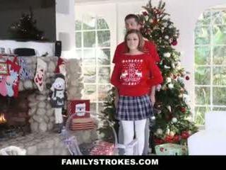 Familystrokes - dulkinimasis mano step-sis metu holiday kalėdos pics video