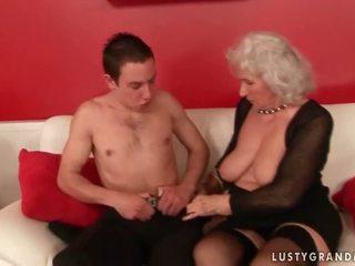 granny, lingerie, stockings
