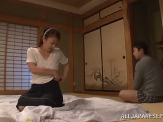 Ayano murasaki has unforgettably made love till going to kreslo