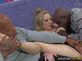 Double Penetration with Big Black Cocks - Vicky Vixen