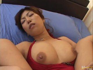 बड़ा boobed एशियन naho hazuki gets उसकी कंट licking