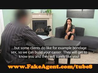 FakeAgent Creampie for hot young amateur
