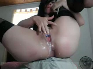 Horny wife masturbating her dripping wet pussy
