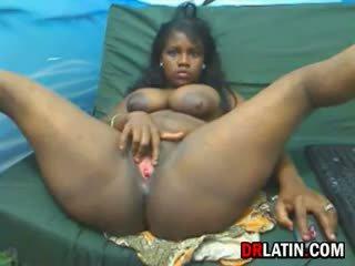 big boobs, solo, black and ebony
