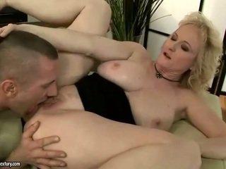 Hot grandma gets fucked anally