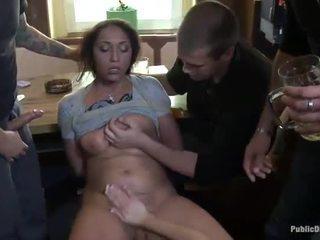 Pháp cô gái ràng buộc và double penetrated