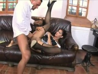 StAcey Silver Made Sit Down On A Hard Ramrod On Bed