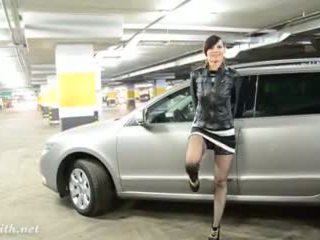 Jeny Smith at car parking