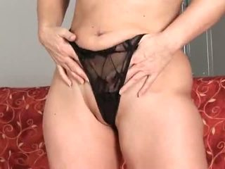 Anilos: Mature older blonde anal bead play !