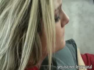 Kinky blondie Ex gives head and tries ...