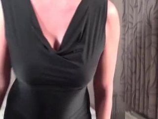 Redhead mature works her sexy boobies