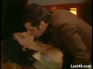 Italian brunette fucking in train controller