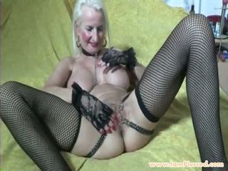 I Am Pierced Granny with Pussy Piercings and Chains.