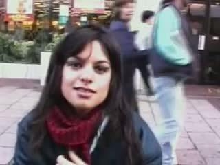 Indisch meisje van af de straat