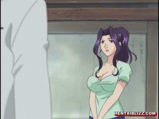 मोम जपानीस हेंटाई gets squeezed उसकी bigboobs