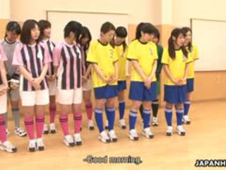 Coach Teaches Two Adorable Soccer Girls. They Get Their