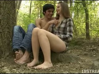brunetta, giovane, invertire cowgirl