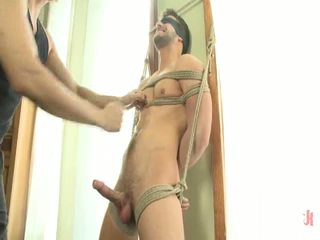 Astonishing Hunk Andrew Blue Bound And Begging To Sperm