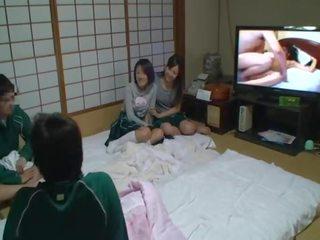 brunette, japanese, kissing