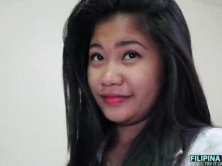 Buah dada besar filipina remaja dan sebuah besar putih kontol