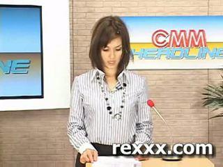 Ειδήσεις reporter gets bukakke κατά την διάρκεια αυτήν εργασία (maria ozawa bu
