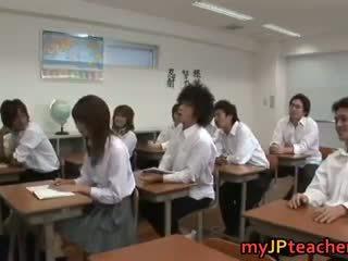 Heet japans teachers en lots van seks
