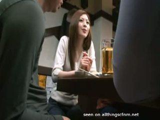 A-japanese-girl-gives-handjob-under-the-restaurant