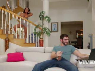 Vivid.com - Big Tit Milf Catches Her Stepson Jerking Off