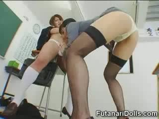 Futanari chick gets sucked!