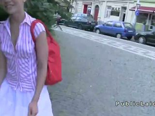 Czech amateur ballerina fucks in public