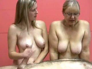 Mother & Daughter Topless Jerking